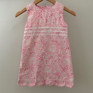 Lilly Pulitzer Girls Flower Sleeveless Dress, 5